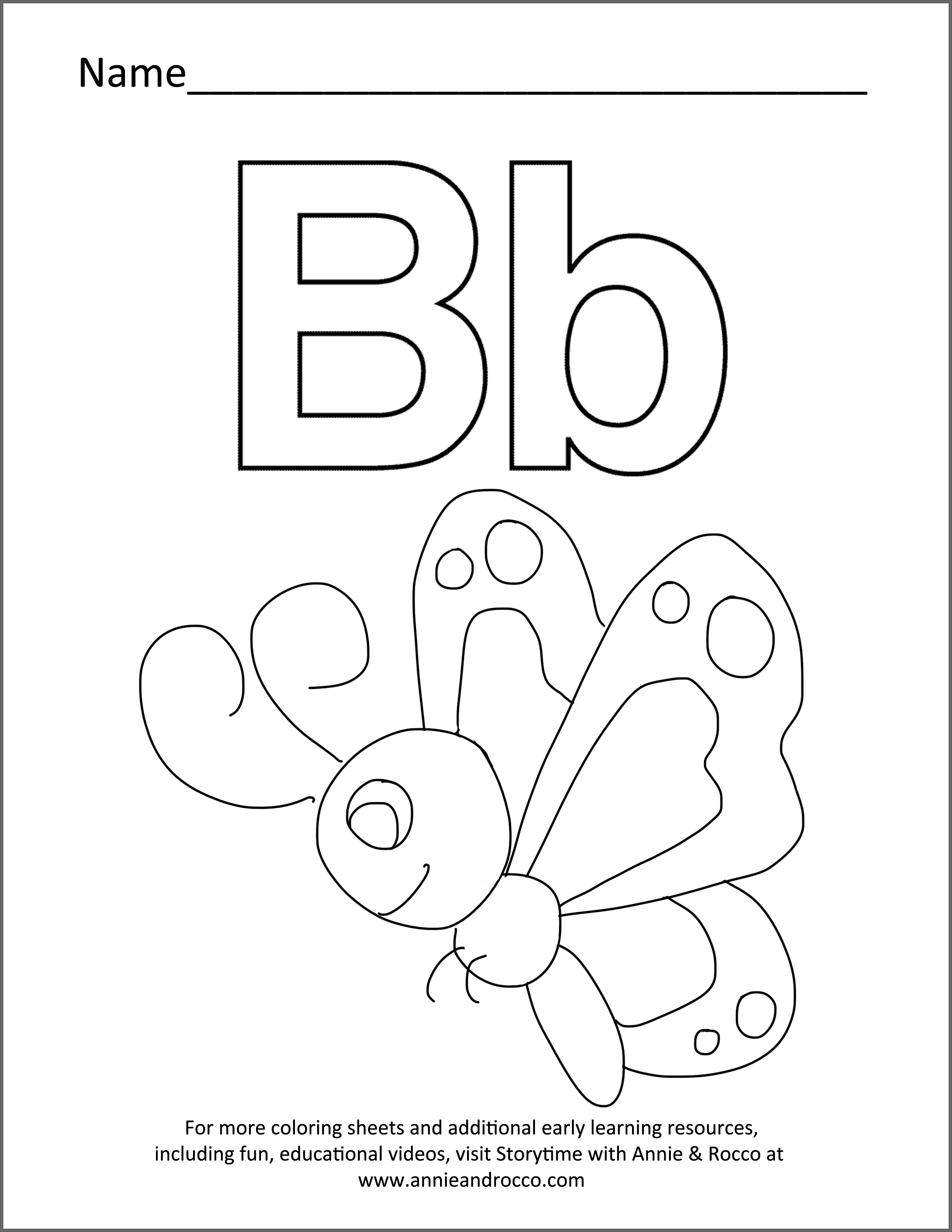 Coloring Sheet Butterfly